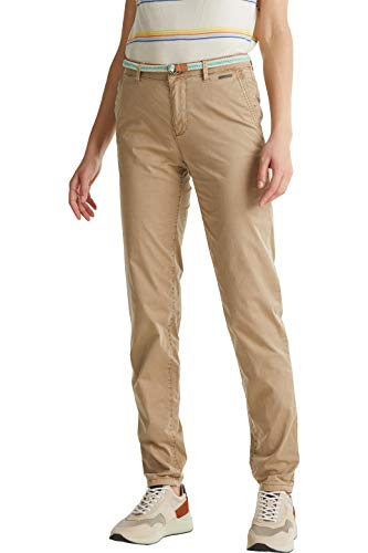 Esprit Sommer Chino Pantaln, 270/beige, 36W x 32L para Mujer