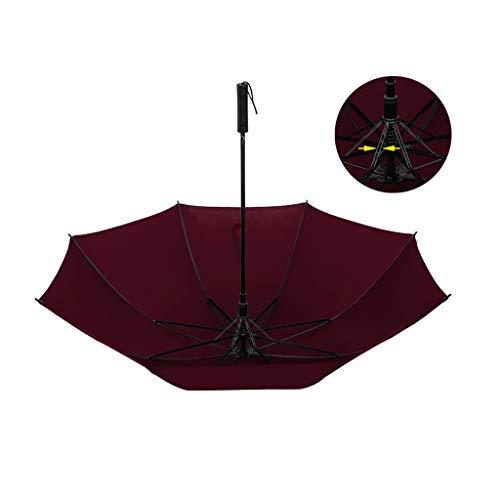 Unbekannt Regenschirm, Windundurchlässig Folding Regenschirm, Stormproof leichte wasserdichte Durable Strong 16 Rippen Reisen Unisex Regenschirm (104x82cm) (Color : B)