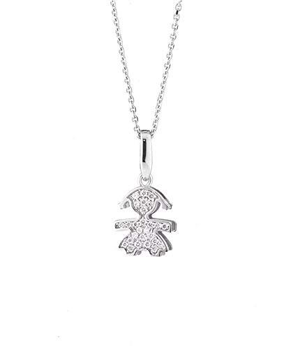 Collana Le Bebé Donna lbb154 Oro Bianco Diamante