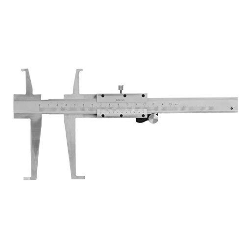 Vernier Caliper, 9-150mm Acero al carbono Ranura interior Vernier Caliper Micrómetro interior Calibrador Regla Herramienta de medición