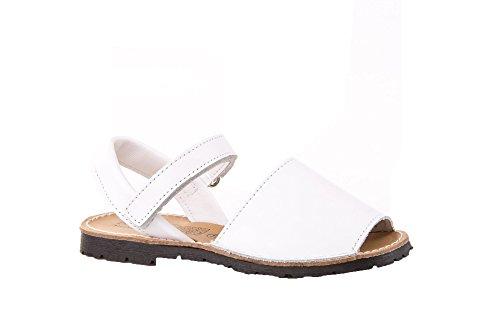 Sandalias Menorquinas para Niños y Niñas Unisex. Calzado infantil Made in Spain, garantia de calidad. (25, Blanco)
