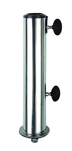 Doppler Standrohr für Granit Sockel bis 60 mm - Aus hochwertigem Edelstahl - Mit Befestigungsmaterial - Für optimale Stabilität