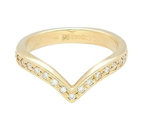 Clogau 9Ct Yellow Gold 0.15ct Diamond Wishbone Half Eternity Ring (Size M)