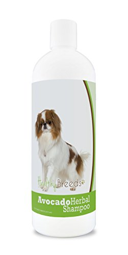 Healthy Breeds Herbal Avocado Dog Shampoo for Dry Itchy Skin for Japanese Chin - OVER 200 BREEDS - For Dogs with Allergies or Sensitive Skin - 16 oz