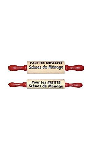 2 Rouleaux A Patisserie - Taille Unique