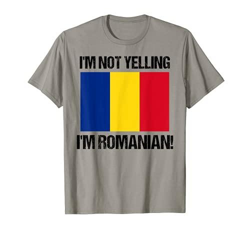 No estoy gritando Soy rumano Bandera de país Rumania B Camiseta