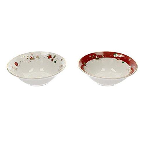 Brandani 53013 Alleluia Piccola Ciotola In Porcellana, Set 2 Pezzi, Multicolore