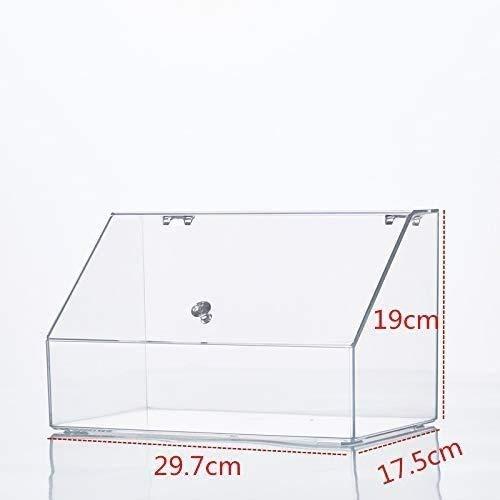 Aufbewahrungsbox Auslage Lagerung kosmetischer Speicher Große kosmetischer Aufbewahrungsbehälter/einfache Desktop-Schublade Acryl Frisierkommode Lippenstift Pinsel Staub Flip-Aufbewahrungsbehälter M