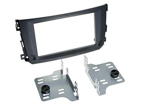 Radioblende 2-DIN Smart Fortwo 451 Facelift 2010  schwarz