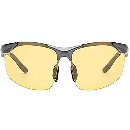 QIAO Occhiali Giorno e notte Visore notturno a doppio effetto con visione notturna a doppio uso Guida agli occhiali da sole a cambiamento di colore Uomo che guida occhiali da sole polarizzati speciali