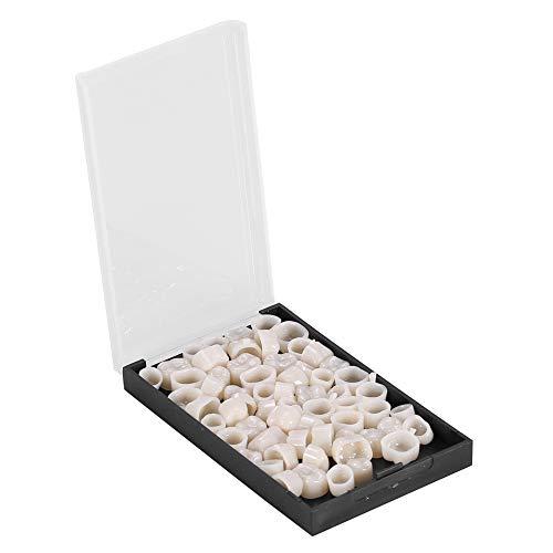 Kit reparación dientes temporales, 50 tabletas Corona dental provisional Adhesivo para dentaduras postizas Aparatos cosméticos Chapa Dientes porcelana para dientes anteriores molares(Posterior)