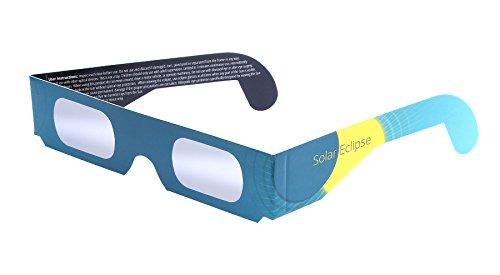 Sonnenfinsternisbrille (5 Stück) - SICHERER SCHUTZ für die partielle Sonnenfinsternis am 10.6.2021 - englische Version