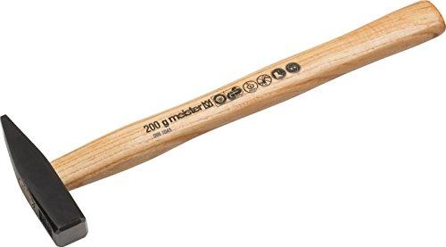 Meister Schlosserhammer - 200 g Kopfgewicht - Robuster Stiel aus Eschenholz - Stahlgusskopf / Ingenieurhammer / Hammer mit Esche-Stiel / 2211000