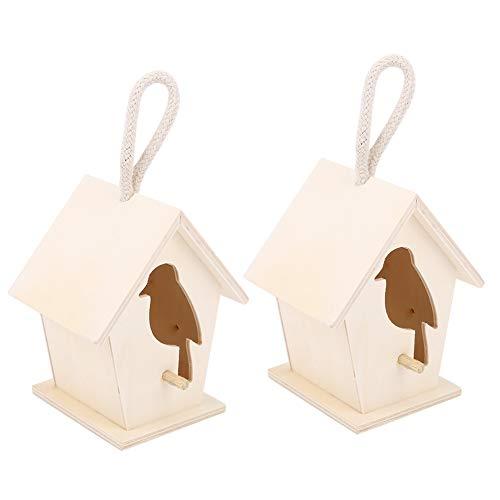 Jacksing Casetta per Uccelli, nidi per Uccelli Gabbia per nidificazione di Uccelli Casetta per Uccelli in Legno per Balcone da Giardino, Cortile