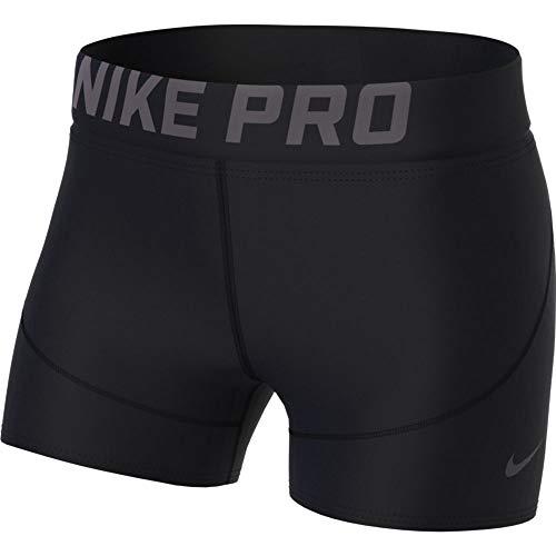 Nike Women's Pro 3' Training Short (Black/Thunder Grey, Small)