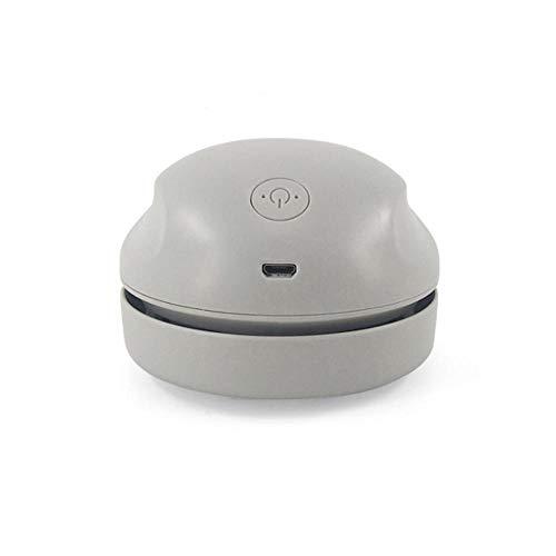 Pteng Limpiador de Mano USB de Carga, Aspirador de Escritorio portátil Apto para Viajes y liviano para Oficina Teclado de Escritorio Computadora Hogar Mascotas Depilación Coche-Gris
