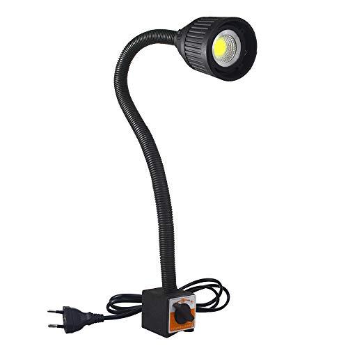 Luz magnética flexible, cuello de cisne, 500 lúmenes, luz de trabajo con base magnética ajustable para torno, máquina de coser, iluminación industrial