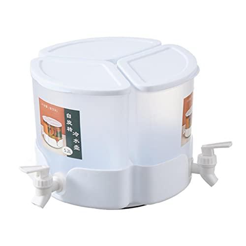 Kaltwasserkocher mit Wasserhahn im Kühlschrank Getränkespender für Kühlschrank mit 3 Wasserkochern 3 Zapfen Obst Teekanne Getränkebehälter Obst Teekanne mit Wasserhahn