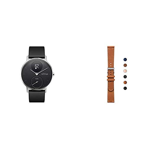 Withings Steel HR Reloj inteligente, Unisex Adult, Negro, 36 mm + – Correa para Steel, Steel HR 36mm, Steel HR Rose Gold, Activité Pop, Activité Premium