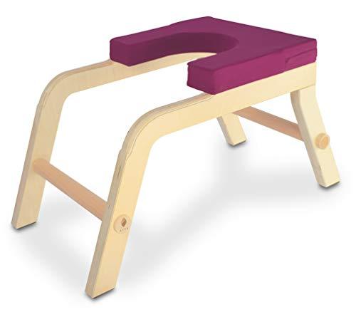 SIYA® Yoga Kopfstandhocker aus Holz - Green Product Award - Ergonomisch,...