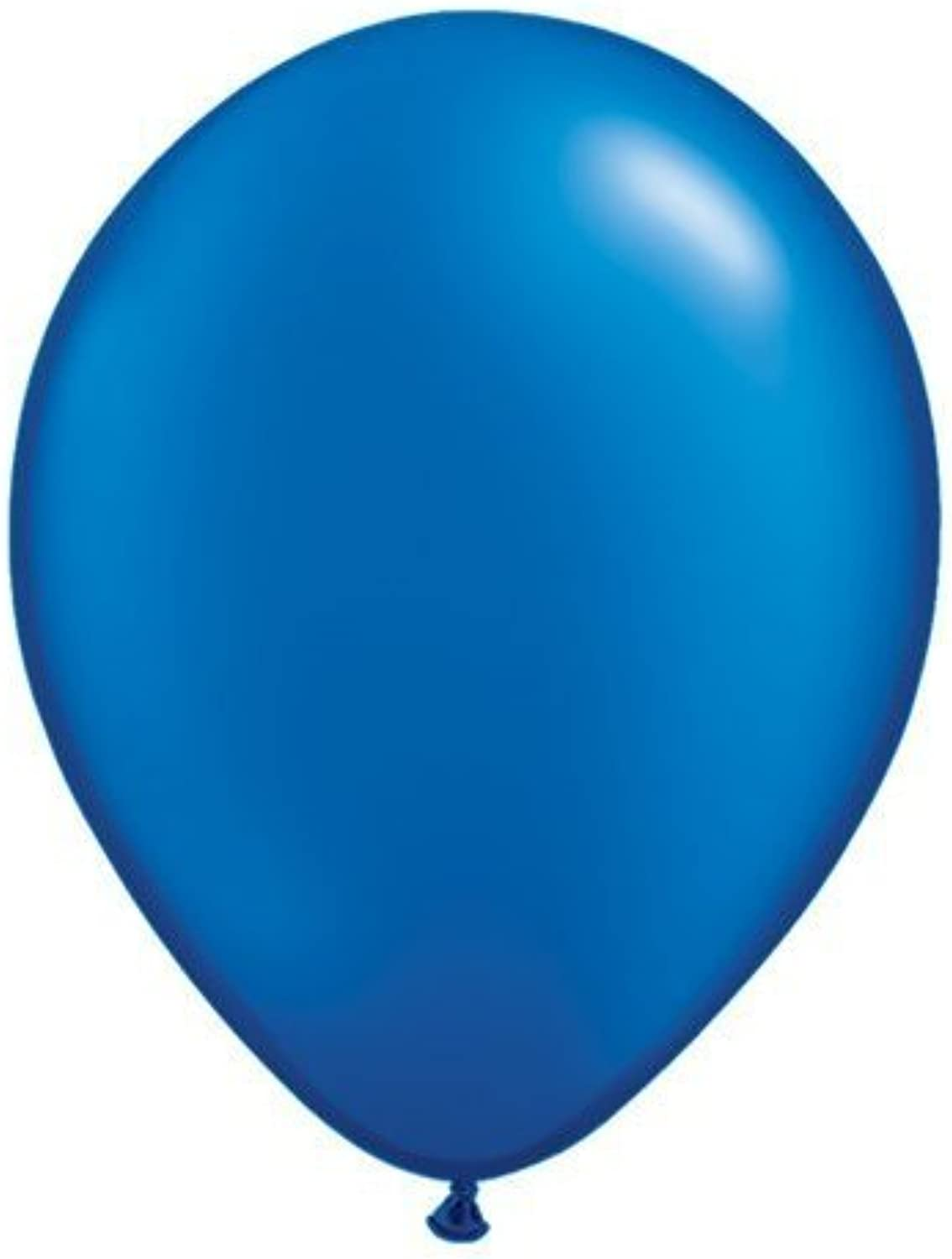 Pearl Sapphire bluee 5 Qualatex Latex Balloons x 10 by Pearlised Solid Colour 5 Latex