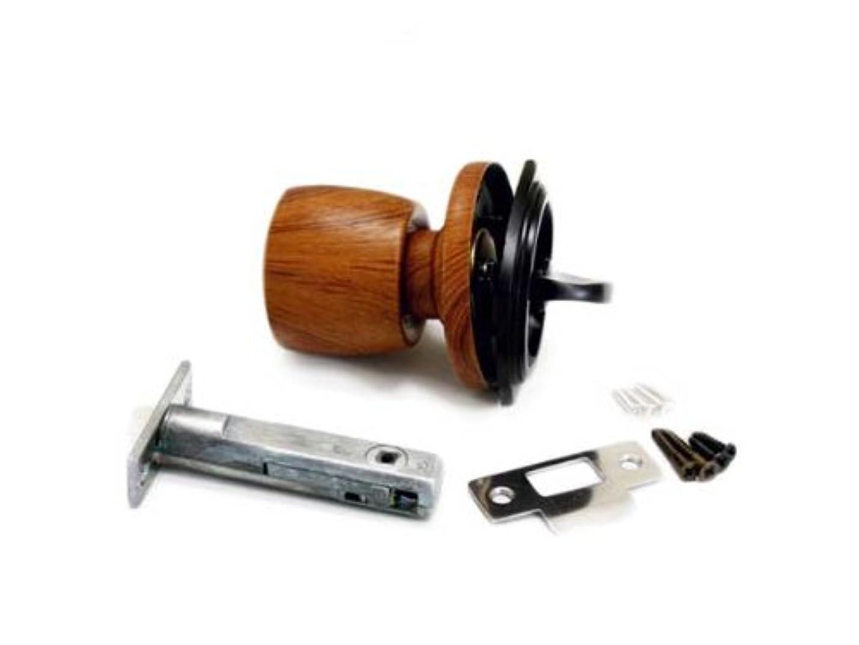 探偵告白居心地の良いハイロジック 通路用チューブラ握り玉戸襖錠 鍵なし 木目ライト