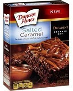 Duncan Hines, Decadent, Salted Caramel Brownie Mix, 17.6oz Box (Pack of 4)