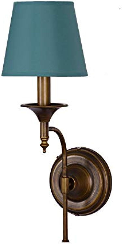 LDDENDP Nachtwandlampe American Country Schmiedeeisen Einfache Kreative Pilz Stil Lampe Schlafzimmer Zimmer Nachtdekoration Wohnzimmer Gang Restaurant Wandleuchte (Farbe   Grün)