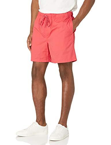 Amazon Essentials Men's 6' Inseam Drawstring Walk Short, Coral, Medium