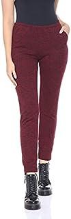 Bella Cotton BCW714 Plaid Side-Pocket Elastic-Waist Slim Fit Pants for Women XXL