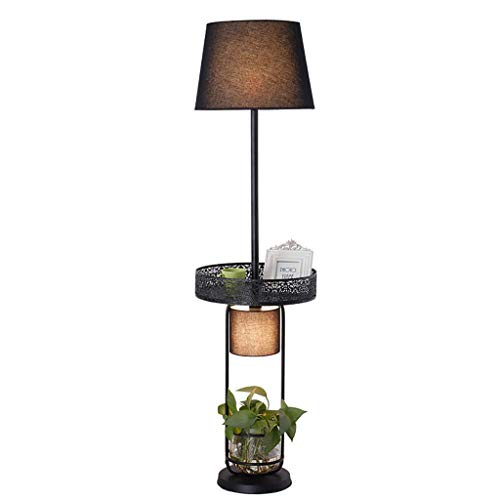 UWY Lámparas de Noche Lámpara de pie, Sala de Estar Simple Mesa de Centro Lámpara de pie Bandeja de Planta de Almacenamiento Creativa Lámpara de Mesa Vertical