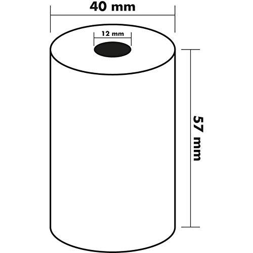 300 Bobines Carte Bancaire Thermique TPE | 57x40x12m | Sans Bisphénol A