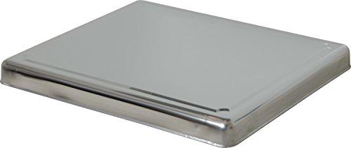 Jocca 6414 - Copri piano cottura, Acciaio inox, Per cucine a gas, Argento, 60.5 x 52.5 x 5.5 cm