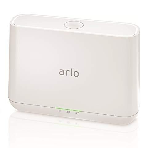 Arlo Basisstation (offiziell, geeignet für Arlo HD, Pro und Pro 2 kabellose Überwachungskamera, Intelligente 100 Dezibel Sirene und mögliche lokale Speicherung via USB Port), weiß, VMB4000