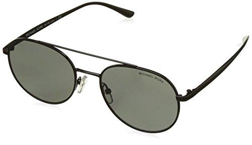 Michael Kors Unisex-Erwachsene Lon MK1021 Sonnenbrille, Schwarz (Black/Grey Mirror), 53