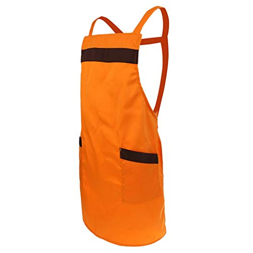 Eastery Pflegeleichte Latzschürze Grillschürze Gastronomie Berufsbekleidung Braun Wie Einfacher Stil Beschrieben (Color : Orange, Size : As Shown)