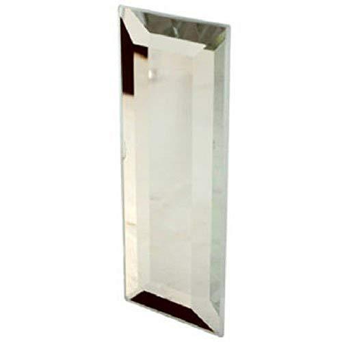 Slide-Co 161783 - Tirador de cristal para puerta con parte trasera adhesiva, 1-1/4 pulgadas de ancho x 3 pulgadas de alto