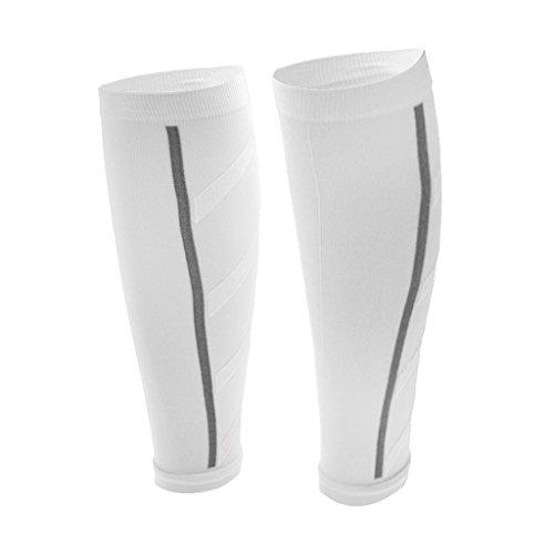 Generic Unisexe Athlétisme De Course Manches De Compression Mollet Jambe Périostite Tibiale - Blanc, Taille Unique