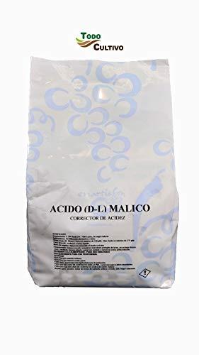 Ácido malico E-296 alimentario. 1 Kilo. Ácido de origen natural corrector de acidez.