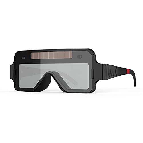 YESWELDER 溶接メガネ ソーラーパワー ゴーグル 溶接面 自動遮光 溶接保護めがね 超軽量 本当の色を映す (眼鏡拭き 収納ケース 日本語説明書付き)