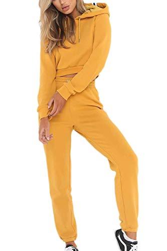 Ropa Casual Mujer Y Dos Set Piezas Sudadera Pantalones Mode De Marca Otoño Invierno Elegantes Moderno Casual Chandal Manga Larga con Correas Cruzadas Hoodie Pantalon Deporte