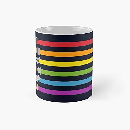 Klassische Tasse mit Lichtschwert-Regenbogen-Motiv