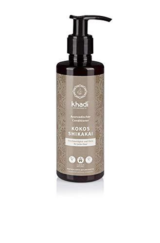 khadi Conditioner Kokos Shikakai 200ml I natürliche Haarpflege für jedes Haar I vegane Haarkur zur täglichen Anwendung I Naturkosmetik ohne künstliche Zusätze
