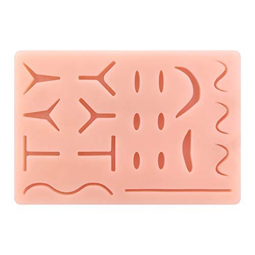 Modello di pelle riutilizzabile per addestramento medico in silicone riutilizzabile con cuscinetto per sutura aggiornato con 19 ferite pretagliate per la pratica medica Corso di formazione