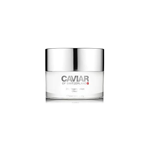24h Regeneration Cream (50 ml) by Caviar of Switzerland, Anti Aging Face Cream Women, Improves Elasticity and Collagen Production, Detoxifies and Regenerates Skin, Reduces Wrinkles and Fine lines