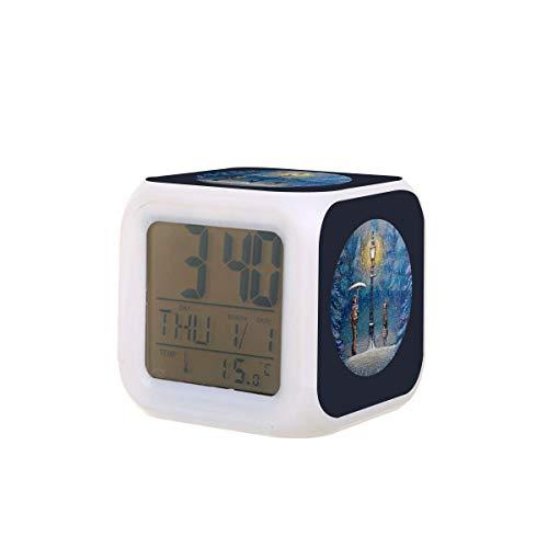 Narnia Magische Laterne LED Digital Wecker Kalender Temperatur bunt Nachtlicht Schlafzimmer Uhr Schreibtisch Uhr Batteriebetrieben