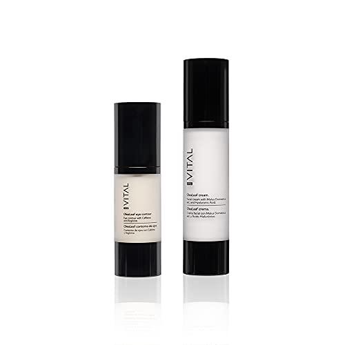 Pack Cremas Faciales Mujer Crema Hidratante Facial Mujer + Contorno de Ojos Antiarrugas Mujer Set Belleza Ácido Hialurónico