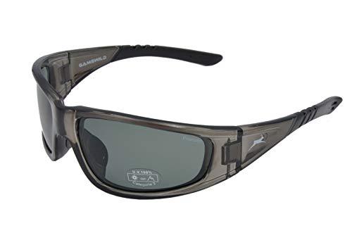 Gamswild WS9131 Sonnenbrille Sportbrille Skibrille Fahrradbrille Damen Herren Unisex   schwarz   braun   grau-transparent, Farbe: grau/transparent
