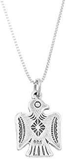 Charm - Sterling Silver - Jewelry - Pendant - Southwest Motif Thunderbird with Necklace 16 INCH