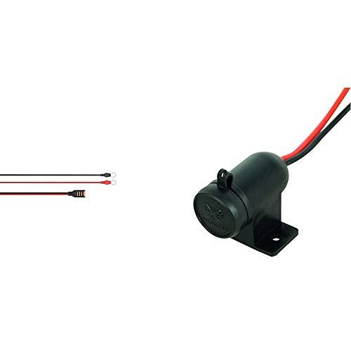 CTEK Comfort Connect Direct Connect Adapter (M6 Muttern), Ideal Für Schwer Erreichbare Batterien, 40cm Kabellänge & Carpoint 0523484 Aufbau Steckdose 12V Wasserdicht
